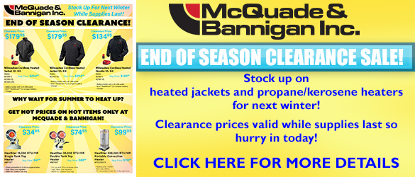 End of Season Clearance FLyer